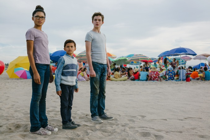 Storm Reid is Meg Murry, Deric McCabe is Charles Wallace Murry and Levi Miller is Calvin O'Keefe in Disney's A WRINKLE IN TIME.
