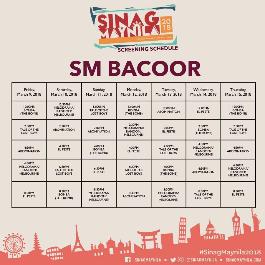 Schedule Bacoor