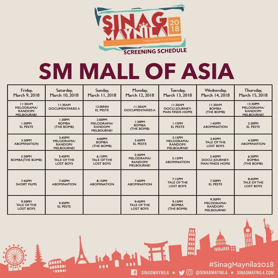 Schedule Mall of Asia