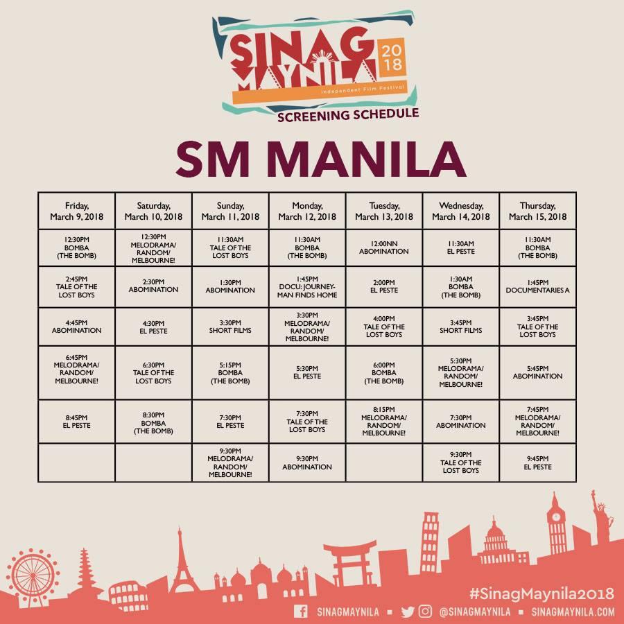Schedule Manila