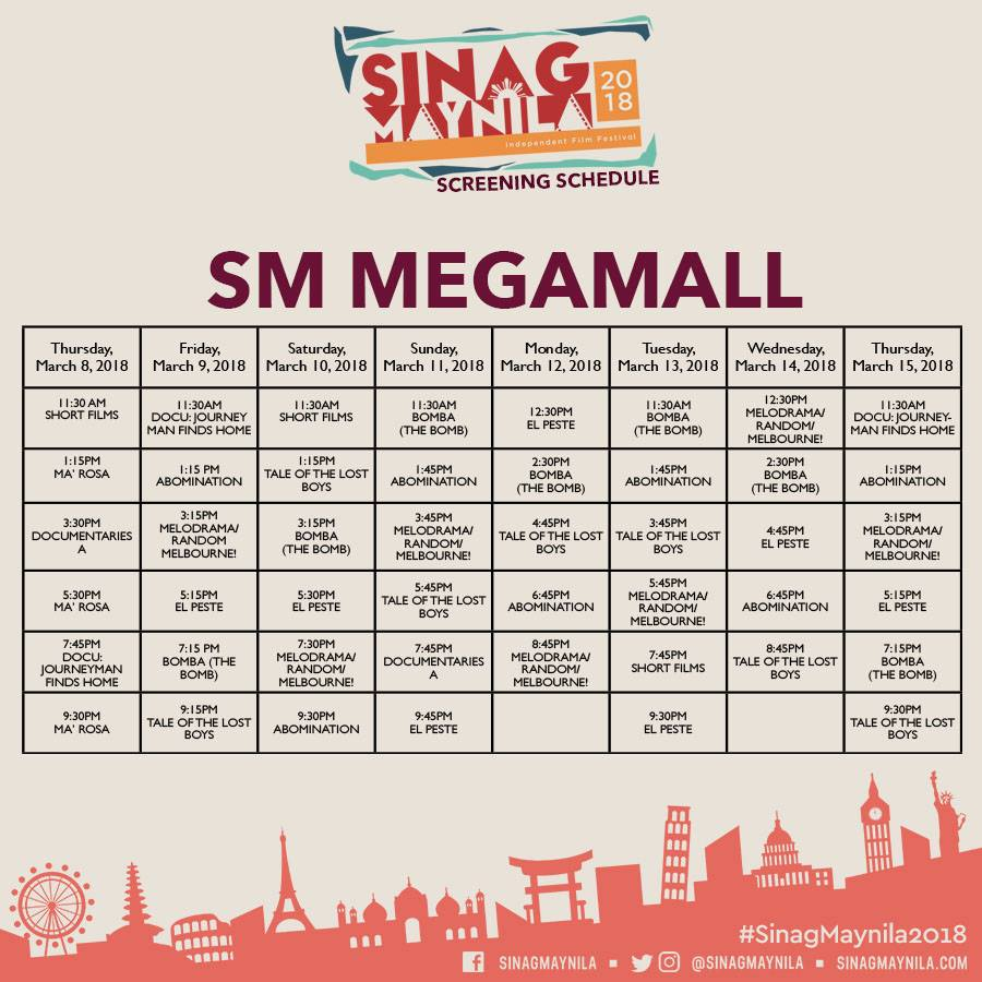 Schedule Megamall