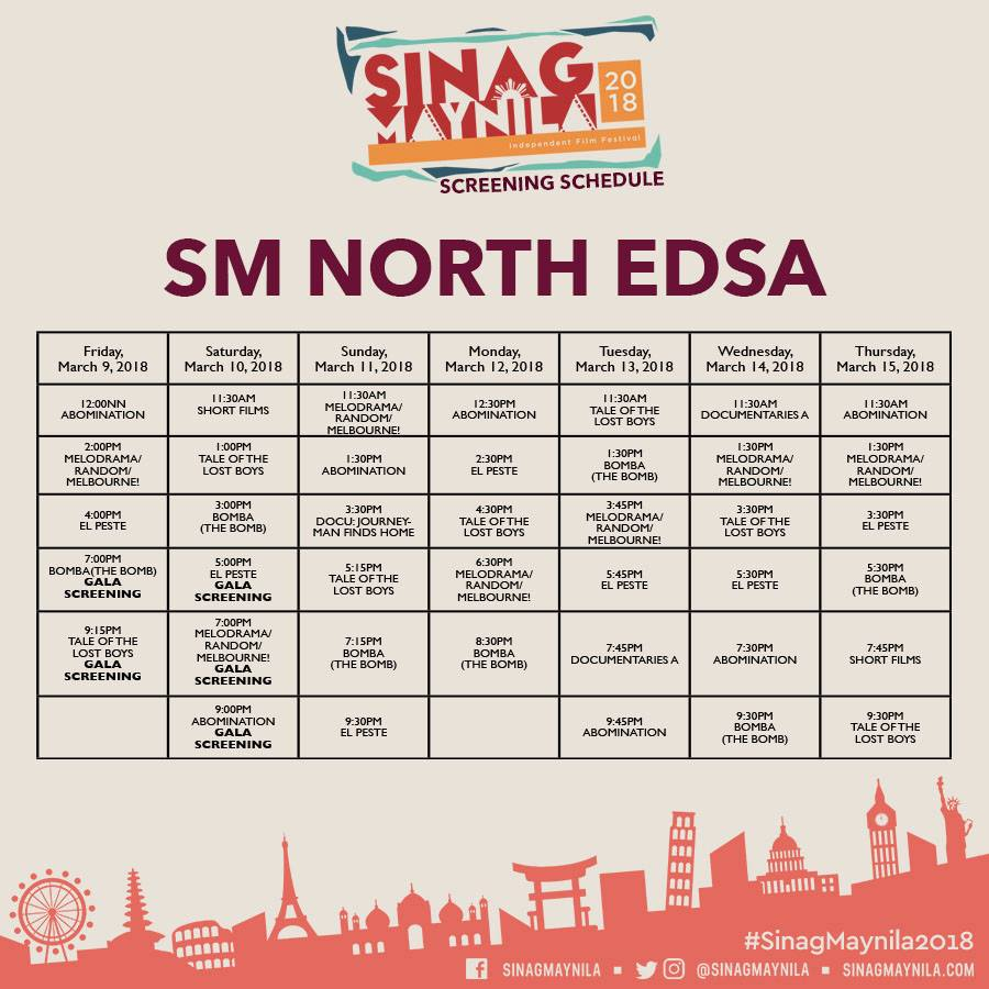 Schedule North EDSA