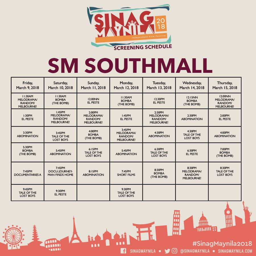 Schedule Southmall