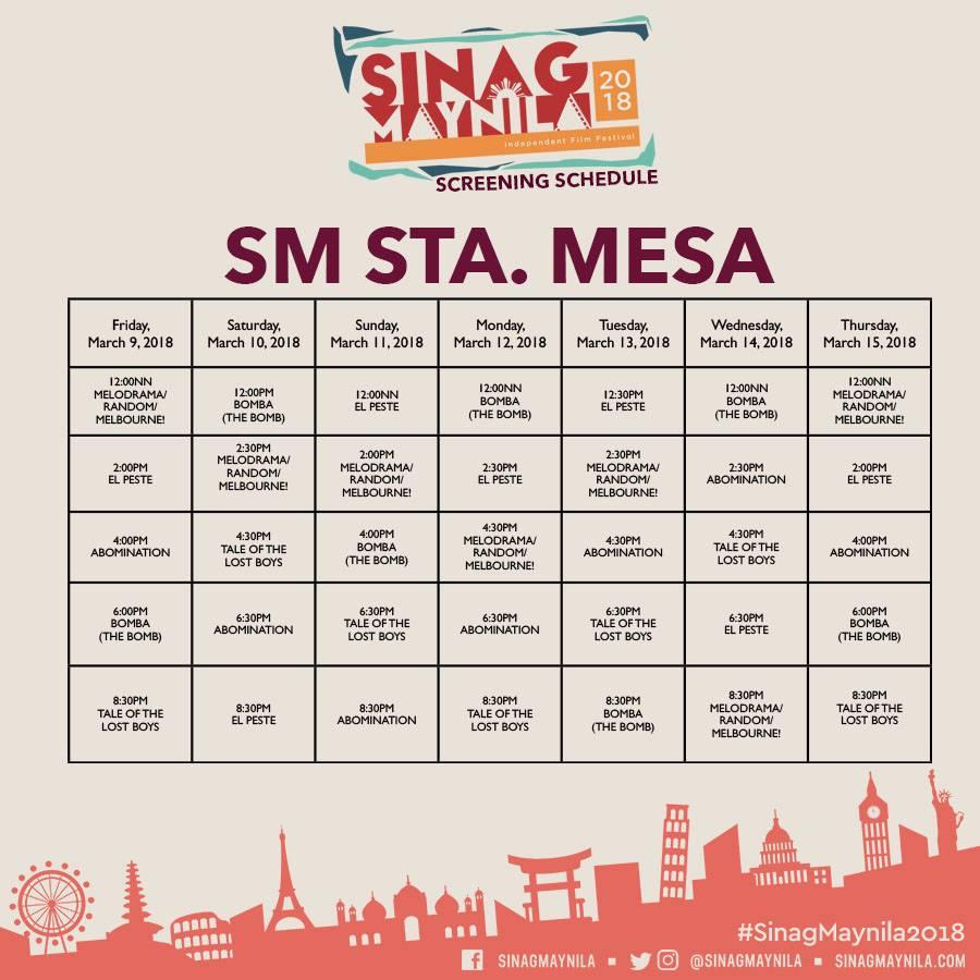 Schedule Sta Mesa