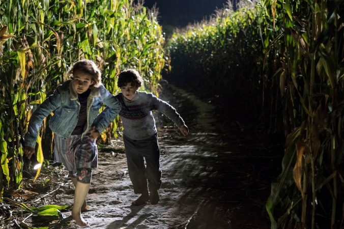 Left to right: Millicent Simmonds plays Regan Abbott and Noah Jupe plays Marcus Abbott in A QUIET PLACE, from Paramount Pictures.