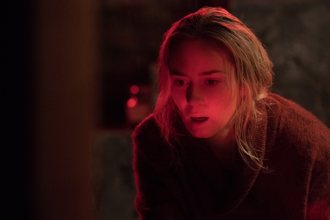 Emily Blunt plays Evelyn Abbott plays Lee Abbott in A QUIET PLACE from Paramount Pictures.