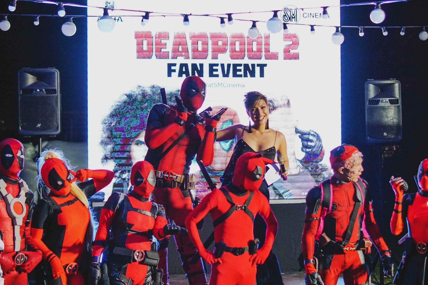 Deadpool cosplayers at the first Deadpool Fan Event