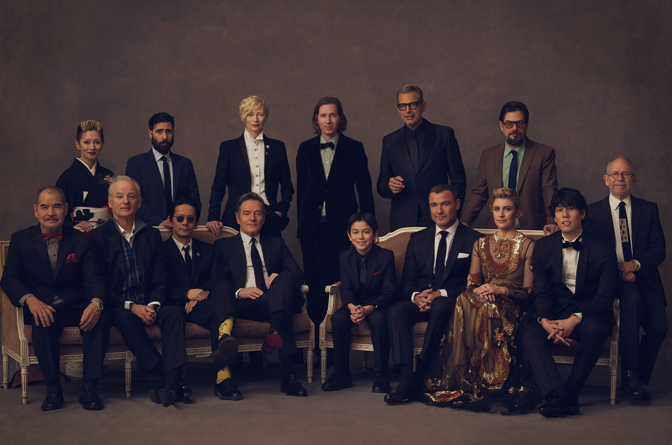 ISLE OF DOGS cast with director Anderson