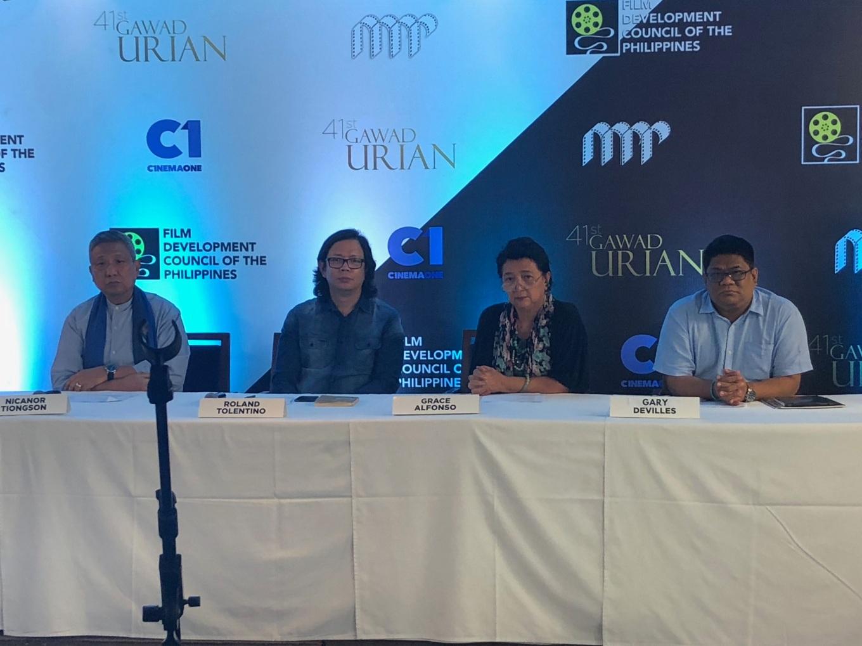 Manunuri ng Pelikulang Pilipino -- Nicanor Tiongson, Rolando Tolentino, Grace Alfonso, and Gary Devilles
