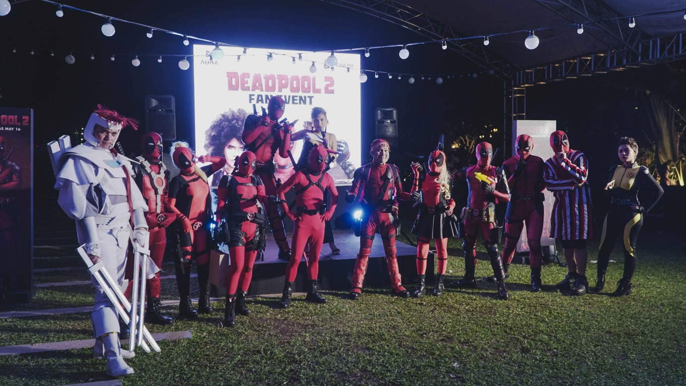 The X-Force cosplayers at the first Deadpool Fan Event