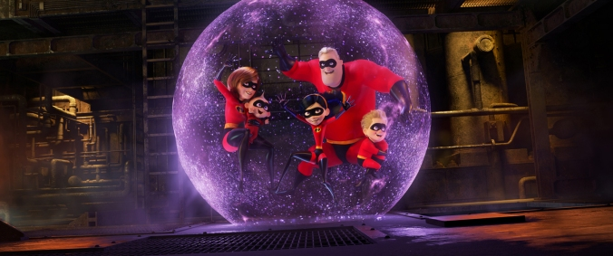 """PRACTICE MAKES PERFECT - In the midst of battling the Underminer villain, Violet protects her family by throwing one of her most super force fields yet. Featuring Sarah Vowell as the voice of Violet, Holly Hunter as the voice of Helen, Craig T. Nelson as the voice of Bob and Huck Milner as the voice of Dash, Disney•Pixar's """"Incredibles 2"""" busts into theaters on June 15, 2018. ©2018 Disney•Pixar. All Rights Reserved."""