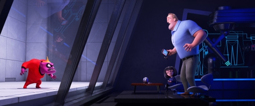 """MAD ABOUT E – When Jack-Jack's many powers are revealed to his family—finally—in """"Incredibles 2,"""" Bob finds himselfturning to Edna for help.Featuring the voices of Brad Bird as Edna """"E"""" Mode and Craig T. Nelson as Bob, """"Incredibles 2"""" opens in U.S. theaters on June 15, 2018. ©2018 Disney•Pixar. All Rights Reserved."""