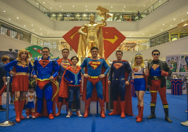 Superman Cosplayers at the event
