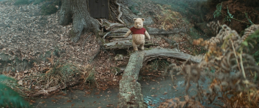 Winne the Pooh in Disney's live-action adventure CHRISTOPHER ROBIN.