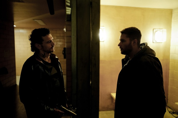 """James Franco stars as """"Taylor"""" and Jack Reynor as """"Jimmy"""" in KIN. Photo Credit: Alan Markfield"""