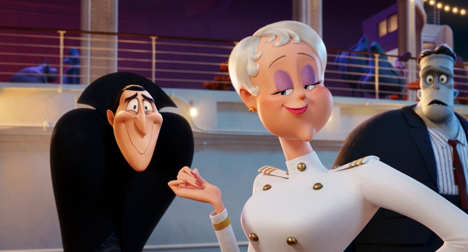 Dracula (Adam Sandler) and Ericka (Kathryn Hahn) in Sony Pictures Animation's HOTEL TRANSYLVANIA 3: SUMMER VACATION.