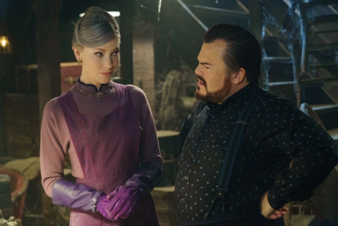 """Mrs. Zimmerman (Cate Blanchett) trades witty insults with her friend Uncle Jonathan (Jack Black) in """"The House With A Clock in Its Walls,"""" the spine-tingling, magical adventure of a boy who goes to live with his eccentric uncle in a creaky old house with a mysterious tick-tocking heart. Based on the first volume in the beloved children's series of books, the film is directed by master frightener Eli Roth."""