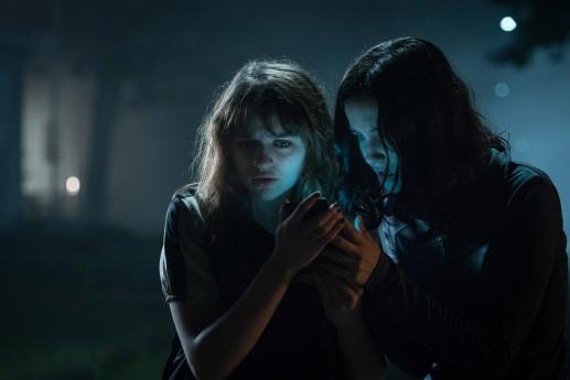 Joey King (Wren) and Julia Goldani-Telles (Hallie) in Screen Gems' SLENDER MAN.