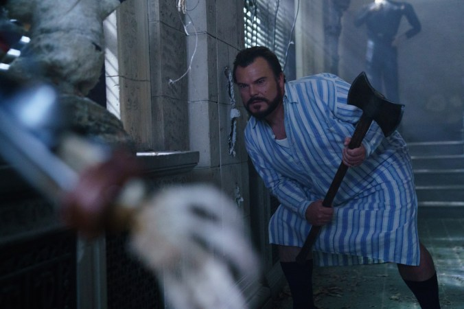 """Uncle Jonathan (Jack Black) is a warlock searching for the location of nefarious ticking sound in his home in """"The House With A Clock in Its Walls,"""" the spine-tingling, magical adventure of a boy who goes to live with his eccentric uncle in a creaky old house with a mysterious tick-tocking heart. Based on the first volume in the beloved children's series of books, the film is directed by master frightener Eli Roth."""