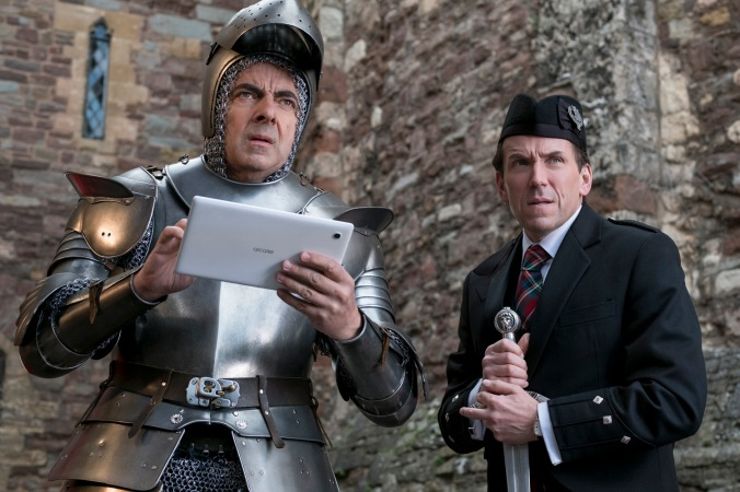 Rowan Atkinson as Johnny English and Ben Miller as Bough star in JOHNNY ENGLISH STRIKES AGAIN, a Focus Features release.