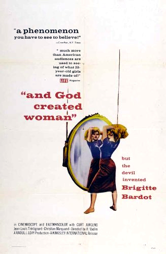 And God Creeated Woman Poster