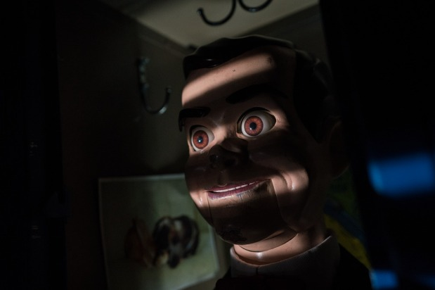 Slappy hides in Sarah's locker in Columbia Pictures' GOOSEBUMPS 2: HAUNTED HALLOWEEN.