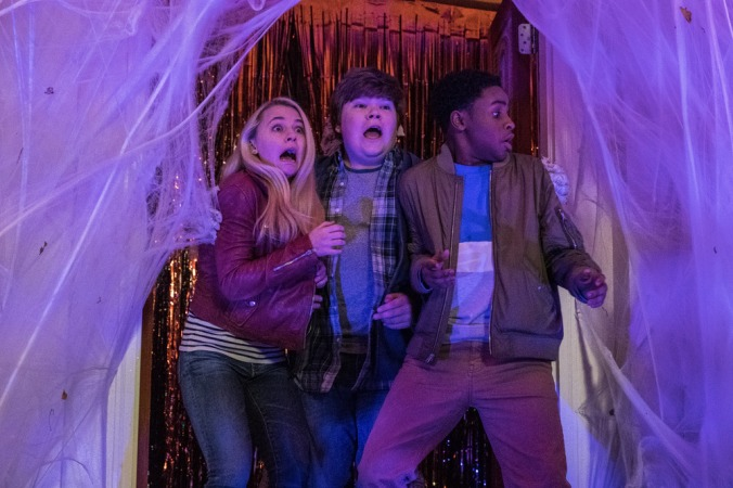 Madison Iseman, Jeremy Ray Taylor and Caleel Harris star in Columbia Pictures' GOOSEBUMPS 2: HAUNTED HALLOWEEN.