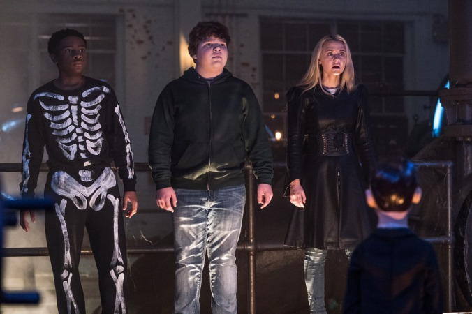 Caleel Harris, Jeremy Ray Taylor and Madison Iseman star in Columbia Pictures' GOOSEBUMPS 2: HAUNTED HALLOWEEN.