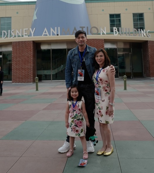 Hayden Kho, Vicki Belo &Scarlet Snow Belo at the Walt Disney Animation Studios in Burbank, California