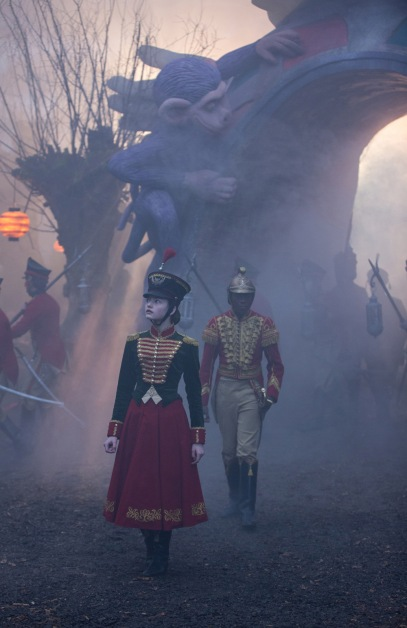 Clara (Mackenzie Foy) and Phillip (Jayden Fowara-Knight) visit the Fourth Realm in Disney's THE NUTCRACKER AND THE FOUR REALMS.