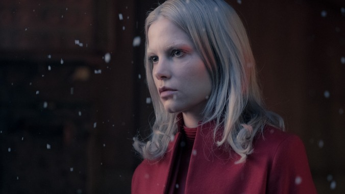 Camilla Salander (Sylvia Hoeks) in the old radar tower in Columbia Pictures' THE GIRL IN THE SPIDER'S WEB.