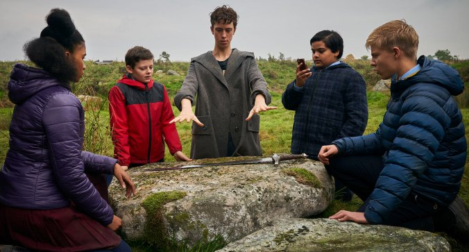 Angus Imrie, Louis Serkis, Tom Taylor, Rhianna Doris, Dean Chaumoo THE KID WHO WOULD BE KING