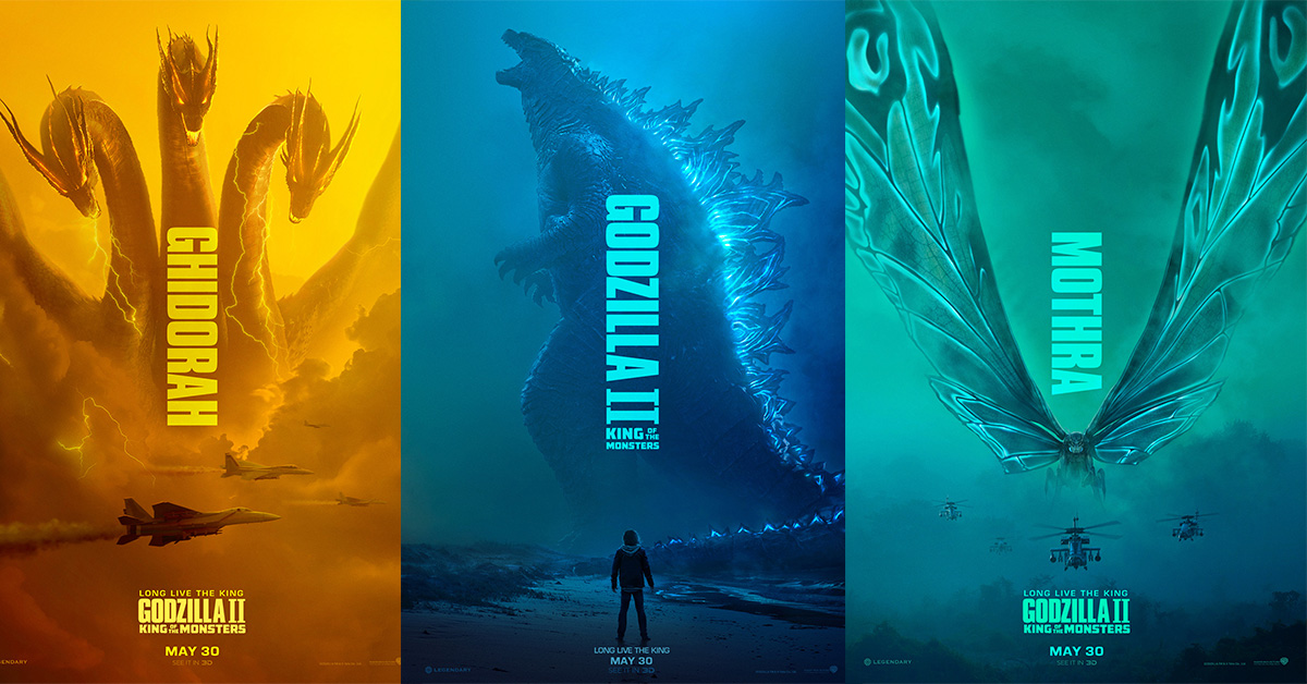 """Movie Poster 2019: Titans Clash In New Trailer Of """"Godzilla: King Of The"""