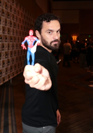 San Diego, CA - July 20, 2018: Jake Johnson attends Sony Pictures presents Spider-Man: Into the Spider-Verse at 2018 San Diego Comic-Con.