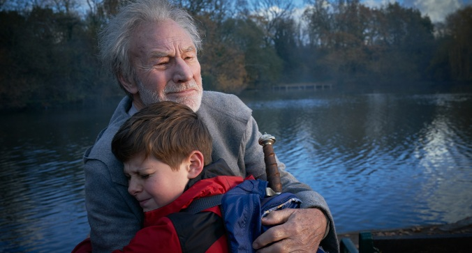 THE KID WHO WOULD BE KING - Patrick Stewart & Louis Serkis