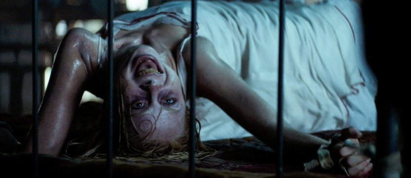 Hannah Grace (Kirby Johnson) possessed in Screen Gems THE POSSESSION OF HANNAH GRACE.