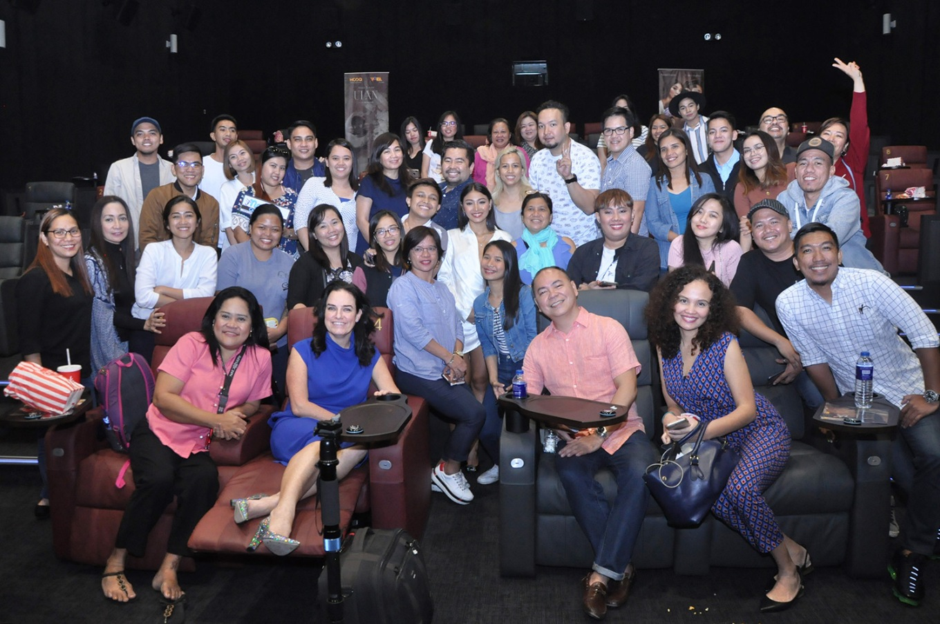 Actress Nadine Lustre surprises HOOQ's Block Screening for ULAN
