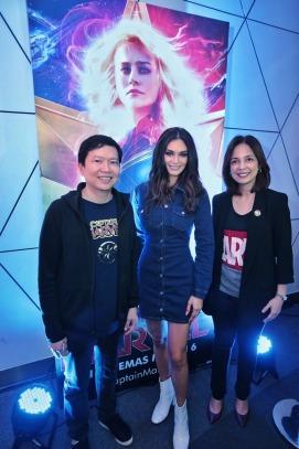 Pia Wurtzbach with TWDC PH's Veronica Cabalinan and Lee Esguerra