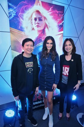 Pia Wurtzbach with TWDC PH's Veronica Cabalinan and Lee Esguerra