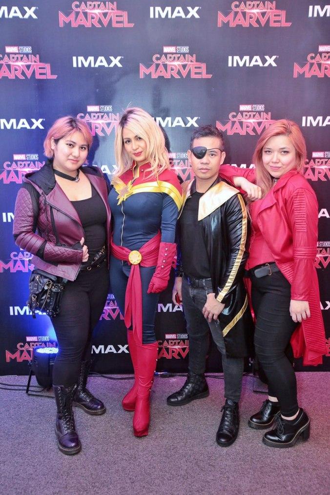 Regine Tolentino cosplays as Captain Marvel