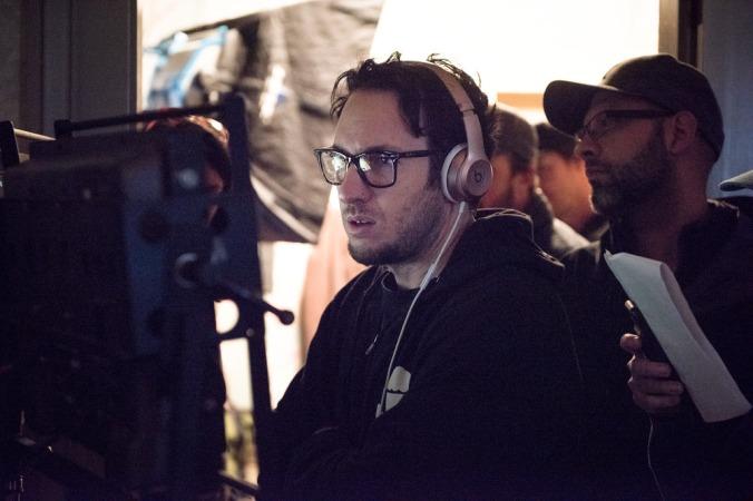 Director David Yarovesky on the set of Screen Gems' BRIGHTBURN.