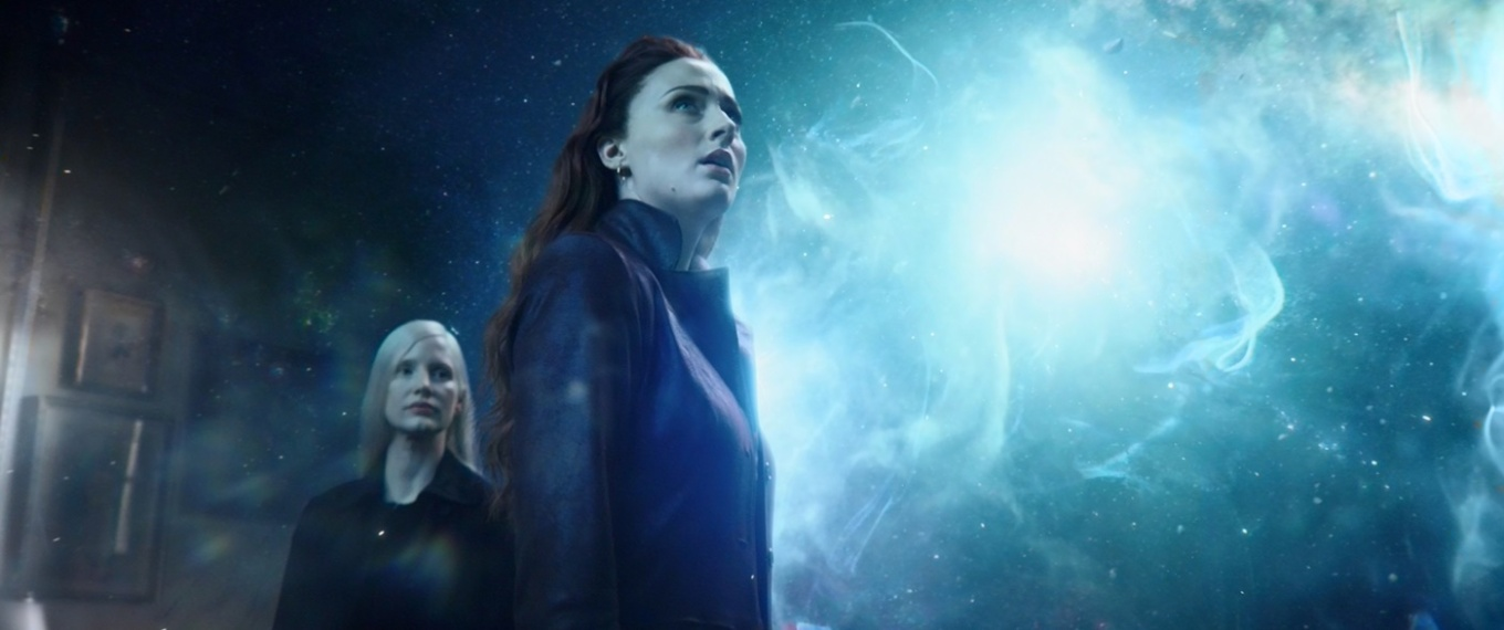 jessica chastain & sophie turner in X-MEN DARK PHOENIX