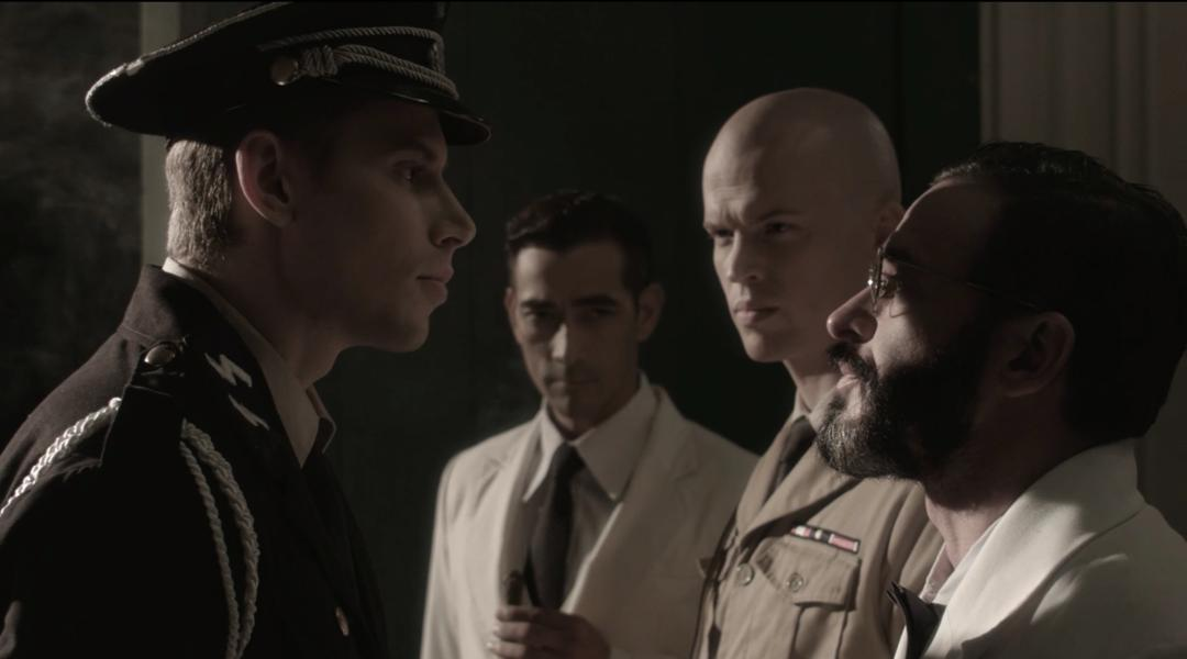 "Raymond Bagatsing, Billy Ray Gallion, and David Bianco in ""Quezon's Game"" (Photo from IMDb)"