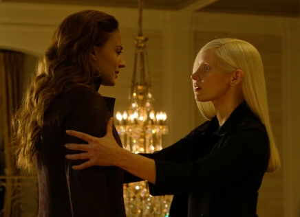 sophie turner & jessica chastain in X-MEN DARK PHOENIX