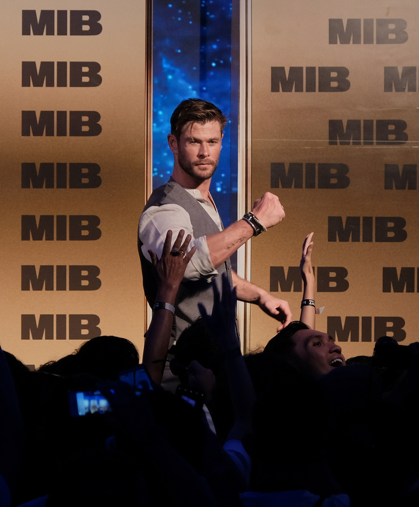 DENPASAR, BALI, INDONESIA - MAY 27: Chris Hemsworth attends the Men in Black: International Pan-Asian Media Summit Bali on May 27, 2019 in Denpasar, Bali, Indonesia.