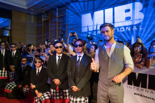 DENPASAR, BALI, INDONESIA - MAY 27: Chris Hemsworth attends the Men in Black: International Pan-Asian Media Summit Bali on May 27, 2019 in Denpasar, Bali, Indonesia. (Photo by Anthony Kwan/Getty Images for Sony Pictures Entertainment )