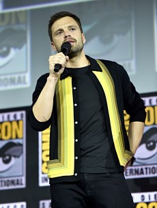 SAN DIEGO, CALIFORNIA - JULY 20: Sebastian Stan of Marvel Studios' 'The Falcon and The Winter Soldier' at the San Diego Comic-Con International 2019 Marvel Studios Panel in Hall H on July 20, 2019 in San Diego, California. (Photo by Alberto E. Rodriguez/Getty Images for Disney)