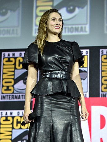 SAN DIEGO, CALIFORNIA - JULY 20: Elizabeth Olsen of Marvel Studios' 'WandaVision' at the San Diego Comic-Con International 2019 Marvel Studios Panel in Hall H on July 20, 2019 in San Diego, California. (Photo by Alberto E. Rodriguez/Getty Images for Disney)