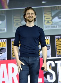 SAN DIEGO, CALIFORNIA - JULY 20: Tom Hiddleston of Marvel Studios' 'Loki' at the San Diego Comic-Con International 2019 Marvel Studios Panel in Hall H on July 20, 2019 in San Diego, California. (Photo by Alberto E. Rodriguez/Getty Images for Disney)