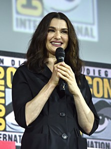 SAN DIEGO, CALIFORNIA - JULY 20: Rachel Weisz of Marvel Studios' 'Black Widow' at the San Diego Comic-Con International 2019 Marvel Studios Panel in Hall H on July 20, 2019 in San Diego, California. (Photo by Alberto E. Rodriguez/Getty Images for Disney)